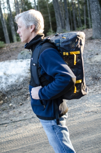 Easy load on your back is one way to describe the Base Camp Duffel.