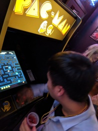 Pac-Man in a bar is a must