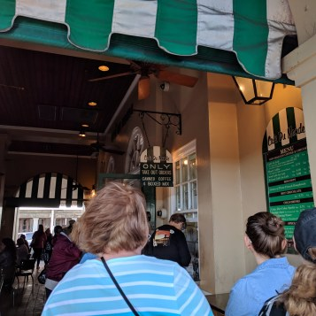 The To-Go Line at Cafe du Monde