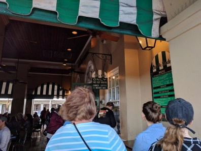 The To-Go Line at Cafe du Monde